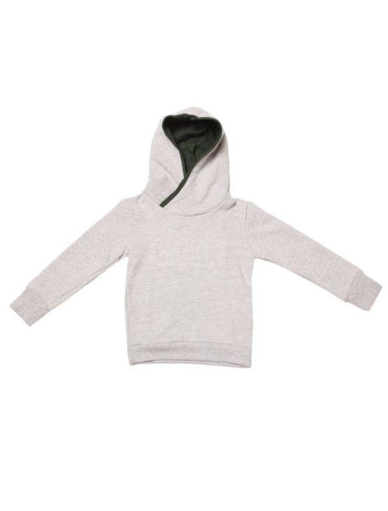 Casaco-Moletom-Infantil-Calvin-Klein-Jeans-Capuz-Logo-Baixo-Relevo-Mescla