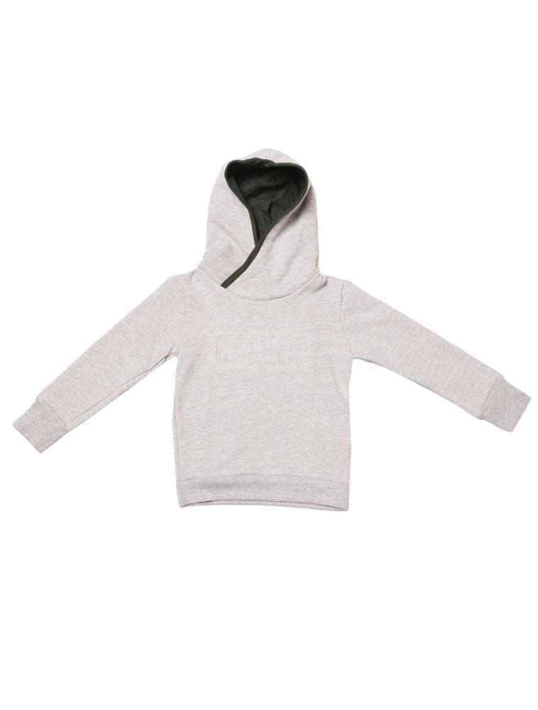 Casaco-Moletom-Infantil-Calvin-Klein-Jeans-Capuz-Logo-Baixo-Relevo-Mescla fba2545fde537