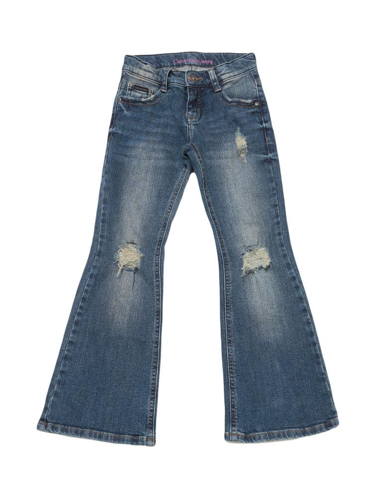 Calca-Jeans-Infantil-Calvin-Klein-Jeans-Five-Pockets-Flare-Azul-Medio e3e5da916d9