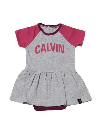 Vestido-Com-Casaco-Infantil-Calvin-Klein-Jeans-Mescla