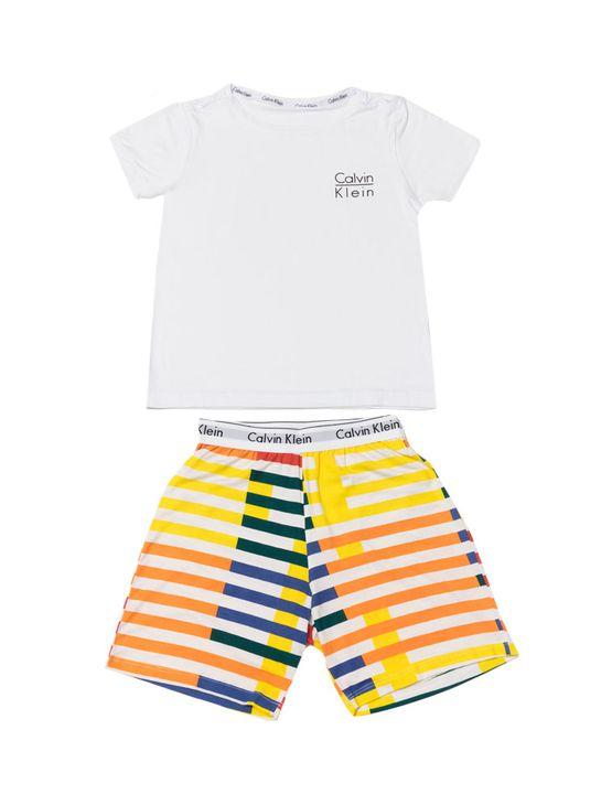 Pijama-Calvin-Klein-Underwear-Camiseta-e-Bermuda-Modern-Cotton-Listras-Branco