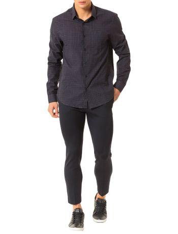 Camisa-Regular-Calvin-Klein-Cannes-Bolso-Xadrez-Rusti-Preto
