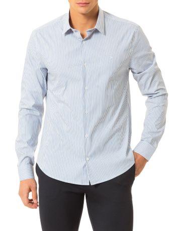 Camisa-Slim-Calvin-Klein-Cannes-Listra-Preenchida-Branco
