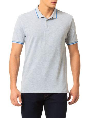 Polo-Calvin-Klein-Jeans-Recortes-Logo-Em-Relevo-Mescla