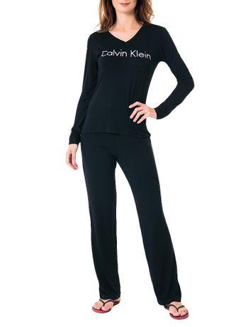 Pijama-Calvin-Klein-Underwear-Manga-Longa-e-Calca-De-Visco-Preto