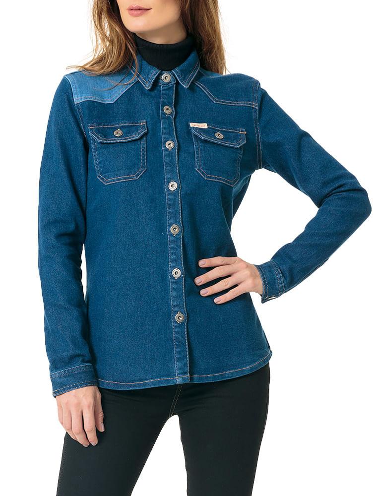 cb4302038 Jaqueta Calvin Klein Jeans Azul Médio - Calvin Klein