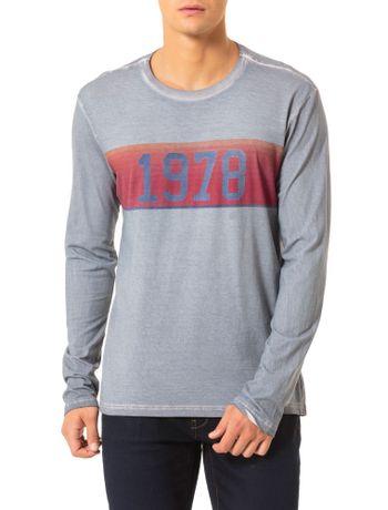 Camiseta-Calvin-Klein-Jeans-Estampa-Faixa-Vintage-1978-Chumbo