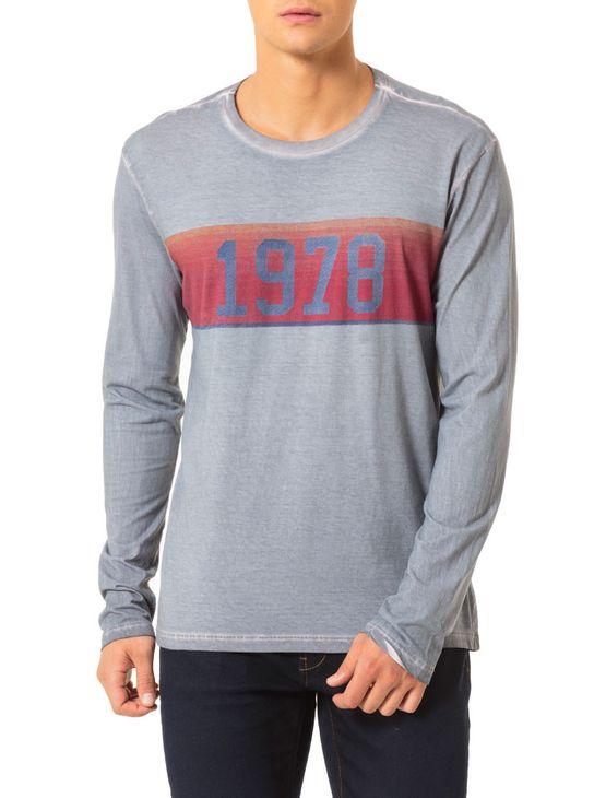 Camiseta-Calvin-Klein-Jeans-Estampa-Faixa-Vintage-1978-Chumbo. Loading zoom 4bdcdbc0f8620
