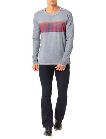 Camiseta Calvin Klein Jeans Estampa Faixa Vintage 1978 Chumbo ... 05110f3599a08