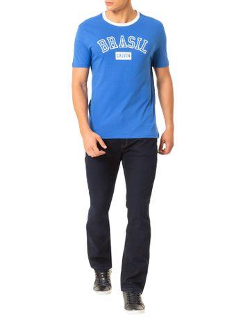 1e1fbd1aa7 Camiseta Calvin Klein Jeans Estampa Copa Gola Azul Carbono - Calvin ...