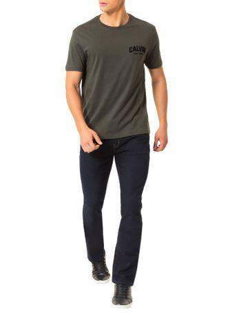 Camiseta-Calvin-Klein-Jeans-Estampa-Calvin-Floco-Militar
