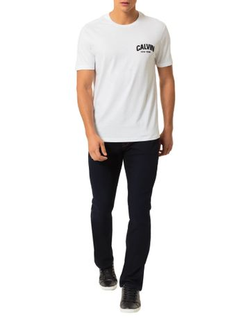 Camiseta-Calvin-Klein-Jeans-Estampa-Calvin-Floco-Branco