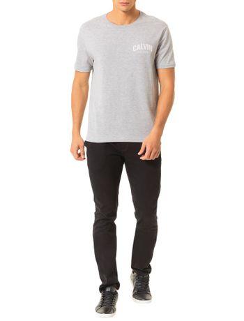 Camiseta-Calvin-Klein-Jeans-Estampa-Calvin-Floco-Mescla
