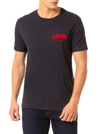 Camiseta-Calvin-Klein-Jeans-Estampa-Calvin-Floco-Preto