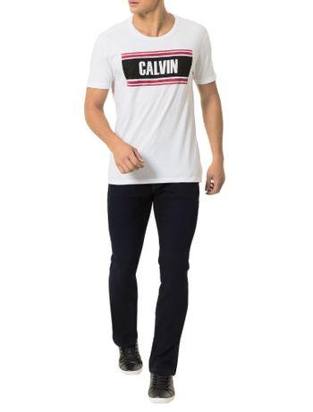 Camiseta-Calvin-Klein-Jeans-Estampa-Calvin-Listras-Branco