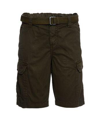 Bermuda-Color-Infantil-Calvin-Klein-Jeans-Oliva