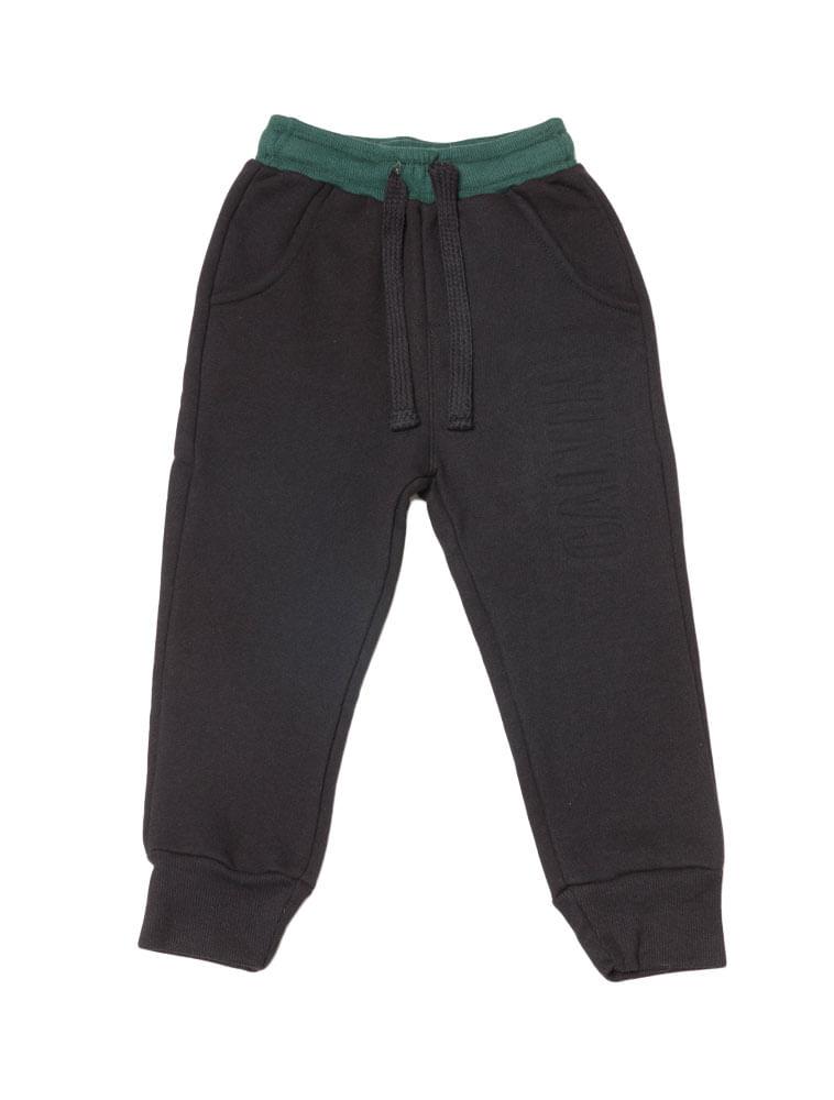 Calça Moletom Infantil Calvin Klein Jeans Logo Baixo Relevo Preto ... 340a8f52f4