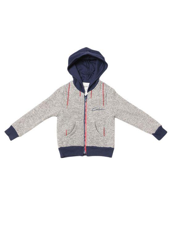 Casaco-Infantil-Calvin-Klein-Jeans-Listrado-E-Bordado-Mescla