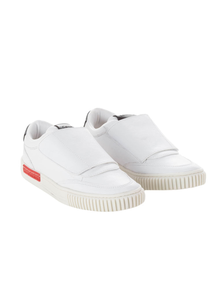 a2551a89c1 Tenis-Infantil-Calvin-Klein-Jeans-Com-Fechamento-Em-Velcro-Branco. Loading  zoom