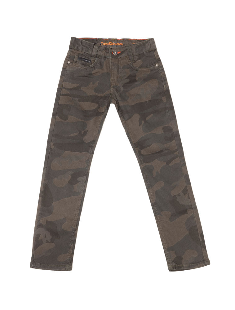 Calca-Color-Infantil-Calvin-Klein-Jeans-Super-Skinny-Camuflado-Militar 9c760febdd6