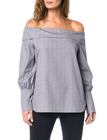 Camisa-Ombro-a-Ombro-Calvin-Klein-Preto