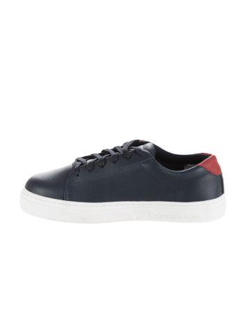 Tenis-Calvin-Klein-Jeans-Couro-Sola-Alta-Marinho