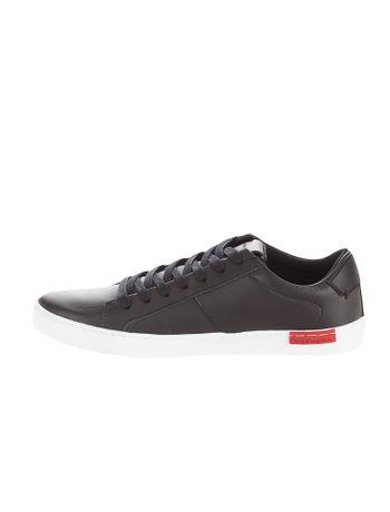 Tenis-Calvin-Klein-Jeans-Couro-Basico-Preto