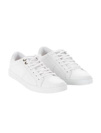 Tenis-Calvin-Klein-Jeans-Couro-Basico-Branco