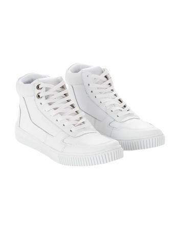 Tenis-Calvin-Klein-Jeans-Couro-Cano-Recortes-Branco