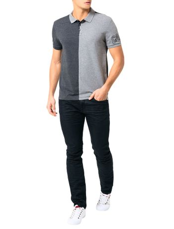 Polo-Calvin-Klein-Jeans-Recorte-Vertical-Grafite