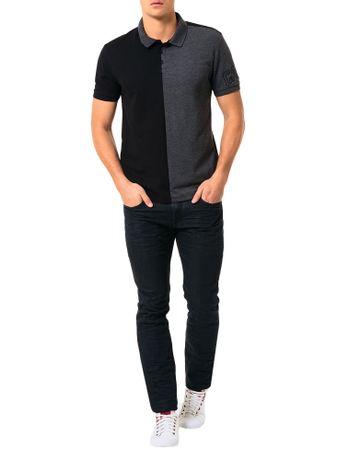 Polo-Calvin-Klein-Jeans-Recorte-Vertical-Preto