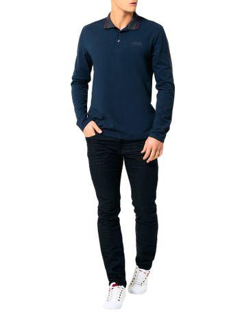 Polo-Calvin-Klein-Jeans-Recortes-Mangas-Marinho
