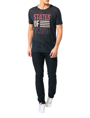 Camiseta-Calvin-Klein-Jeans-Estampa-States-Of-Youth-Grafite