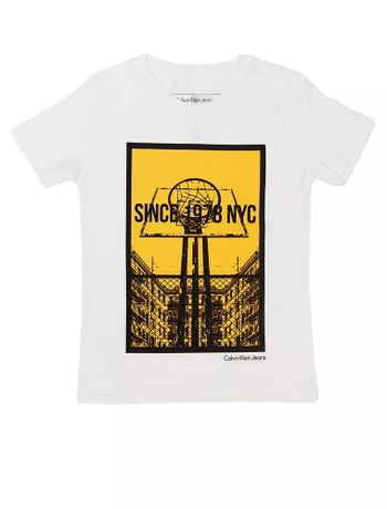 Camiseta-Infantil-Calvin-Klein-Jeans-Estampa-Basquete-Branco