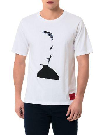 T-Shirt-Calvin-Klein-Jeans-Andy-Warhol-Branco-E-Preto-
