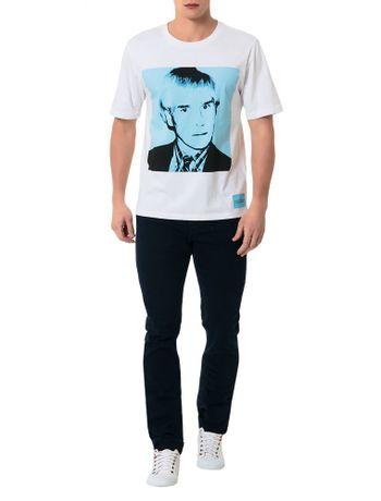T-Shirt-Calvin-Klein-Jeans-Andy-Warhol-Branco-E-Azul-