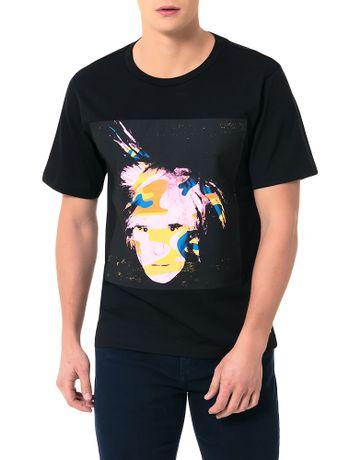 T-Shirt-Calvin-Klein-Jeans-Andy-Warhol-Preto-