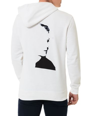 Casaco-Calvin-Klein-Jeans-Com-Capuz-Andy-Warhol-Branco-E-Preto-