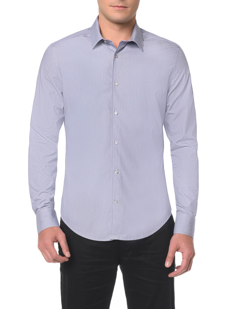 acfd2677e00 Camisa Slim Monte Carlo Simples - Calvin Klein