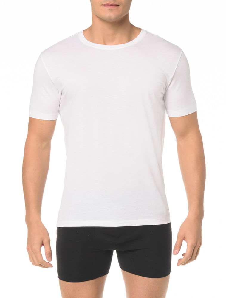 e38d9ff8d7e672 Kit 2 Camisetas Gola Careca Algodão Peruano