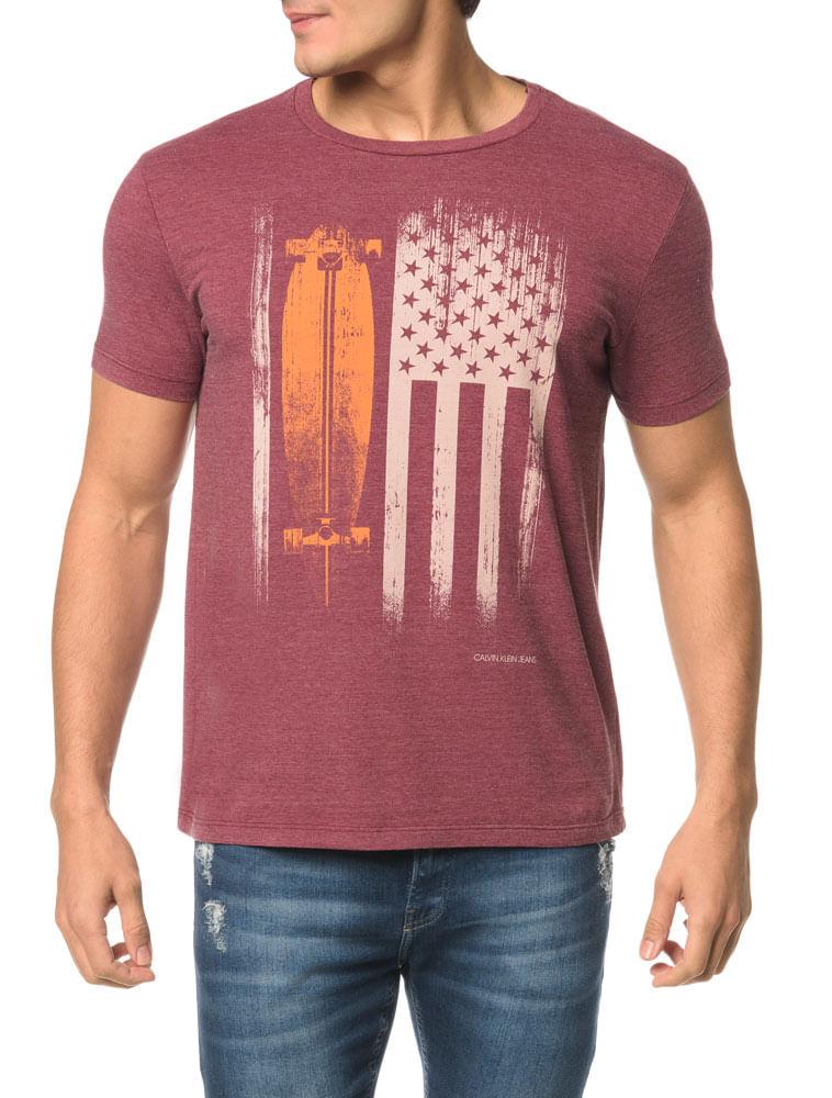 f012b3816dd Camiseta CKJ MC Estampa Bandeira E Skate - Calvin Klein