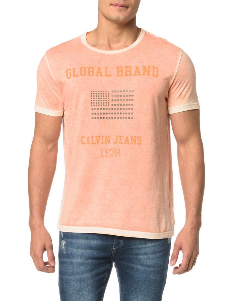 25bf7ae4db7 Camiseta CKJ MC Bandeira Tachas - Calvin Klein