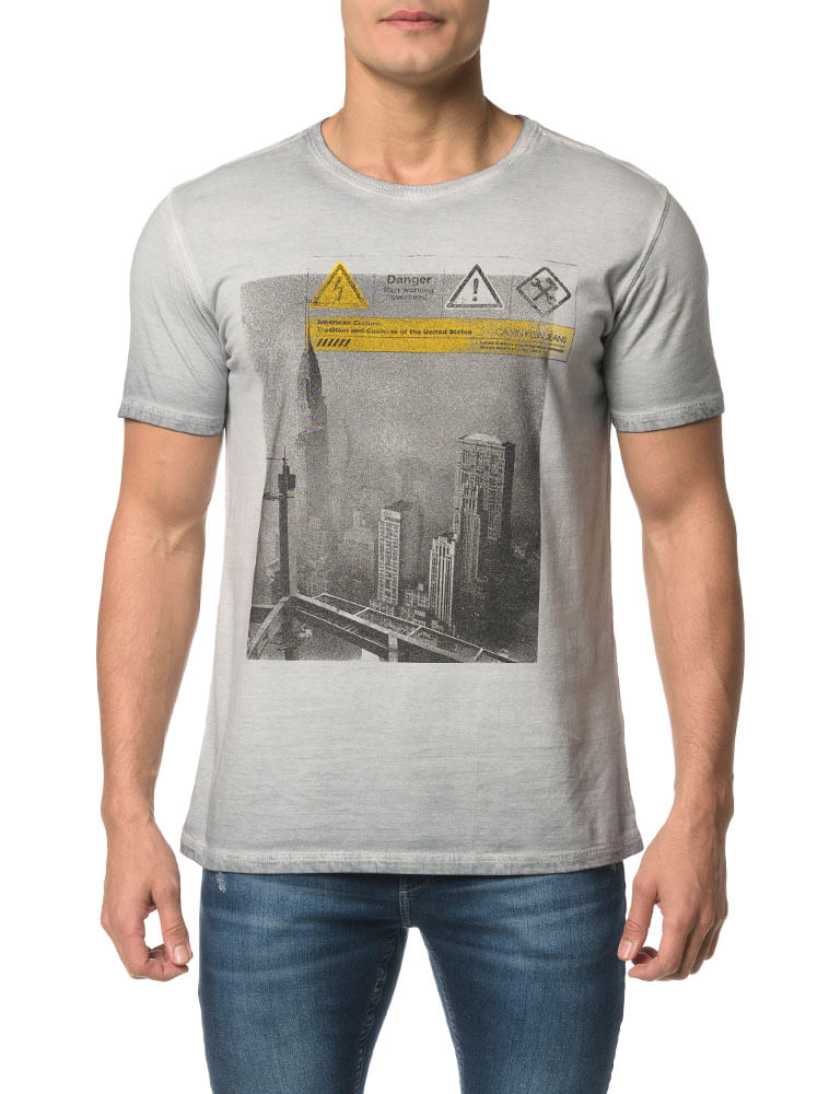 3f5564f6a4 Camiseta CKJ MC Dupla Face Laterais - Calvin Klein