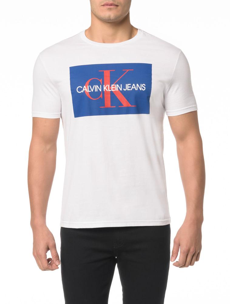 8acd70755e475 Camiseta CKJ MC Estampa Etiqueta CK - Calvin Klein