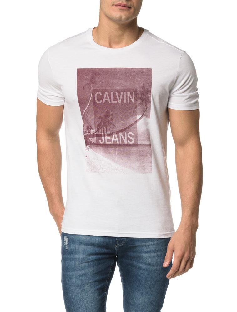 42bd36479c196 Camiseta CKJ MC Logo E Coqueiros - Calvin Klein
