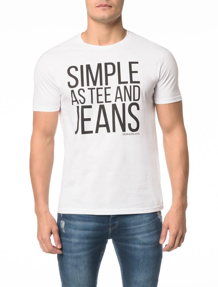 Camiseta CKJ MC Simple As Tee And Jeans - Calvin Klein f3f841fee26