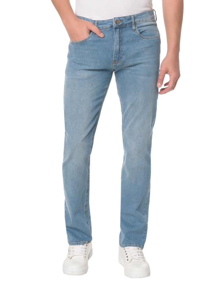 9e23ba7aa48c0 Calça Jeans Five Pockets Straight - Calvin Klein