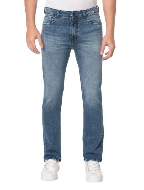 Calça Jeans Five Pocktes Relaxed Straight Ckj 037 Relaxed Straight - Azul Médio