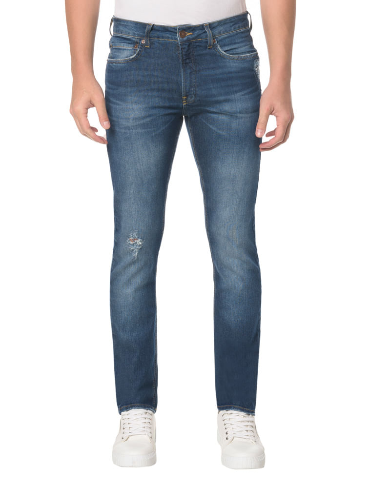 9a3fbb5c302479 Calça Jeans Five Pocktes Slim Ckj 026 Slim - Marinho