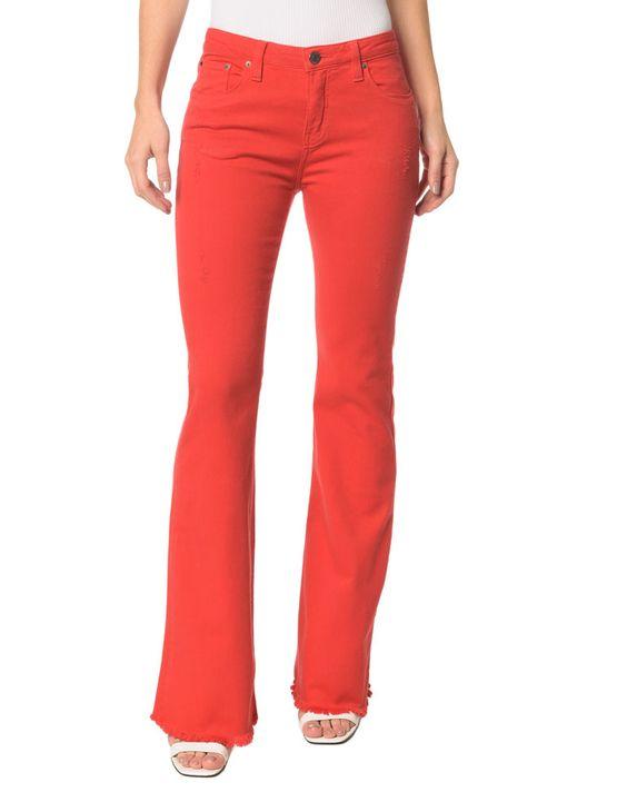 Calca-Color-Five-Pockets-Mid-Rise-Flare-